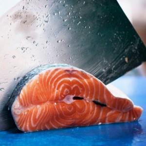 Salmon pescado a domicilio